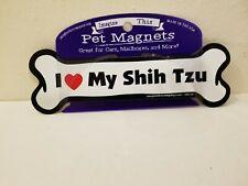 Imagine This Bone Car Magnet, I Love My Shih Tzu, 2-Inch by 7-Inch