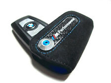 Genuine BMW M Performance Key Case FOB Holder, Black Alcantara & Carbon Fiber