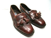 Cole Haan Bragano Mens Brown Leather Kiltie Tassel Woven Loafers Size US 10.5 D
