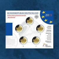 Deutschland - Bundesrat - 5 X 2 Euro 2019 BU - ADFGJ Satz - Parliament