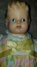 "Vintage EEGEE 10"" Rubber Doll w/ Molded UNDERWEAR & Hair in Bun PRISTEEN!"