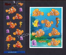 Stickers Lot Disney FINDING NEMO ~Fish ~Vintage Hallmark & Clear type sheet