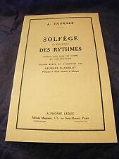 Partition Solfège ou dictées des rythmes Georges Dandelot