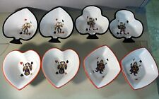 """Tabletops Gallery """"King of Hearts"""" Card 8 Themed Bowls"""