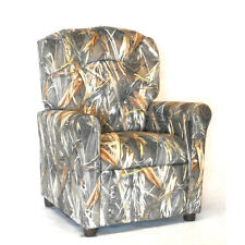 Kids Chair Camo Camouflage Recliner Themed Playroom Furniture Tufted Backing