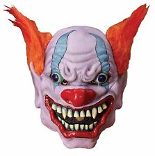 Creepy Clown Mask Scary Chilling Adult Berserk Latex Full Over Head Hair 65898