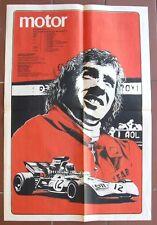 Jackie Stewart poster, celebrating the 1971 F1 champion title