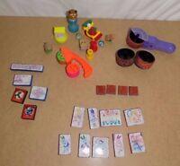 Lot of Rubber Stamps Lisa Frank, Pocahontas, Stamp Wheels