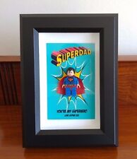 Personalised Superman LEGO Superdad Gift frame,Fathers Day, Birthday AFOL 🎁