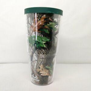 Tervis Tumbler 24 Oz Realtree Camo Travel Mug Cup Hot Cold Green Lid