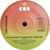 "Tina Charles ‎– I'll Go Where Your Music Takes Me  1977 Disco  7"" Vinyl 45rpm"