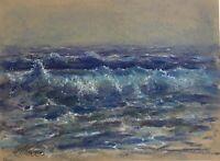 Original painting Ocean Art Wave Pastel Seascape pastels Art Listed By Artist US