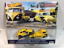 "Hot Wheels Team Transport 2020- VW ""Classic Bug"" & VW Transporter T1 Pickup"