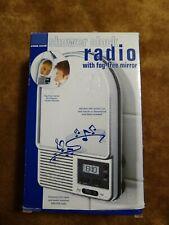 Shower Radio Star Case Full Am/Fm Bands - Brand New In Box Fog-free mirror clock