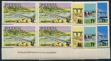 RHODESIA 1969 (SG.435-38) Bridges set in Imprint blks.4, MUH. (16).