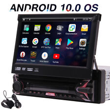 7'' 1 Din Android 10.0 Q Car Radio DVD Stereo Head Unit Flip Out Touch Screen
