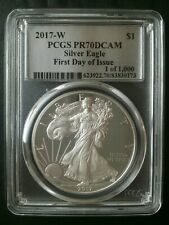 2017 W Proof $1 American Silver Eagle Dollar PCGS PR70 DCAM