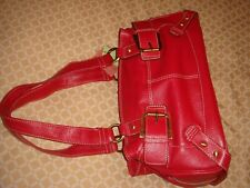 bnwt real leather tommy and kate debenhams hand bag red