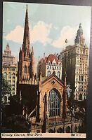 Trinity Church NY Vintage Postcard E104