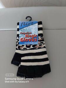 Women Girls Short Wrist  fingerless Finger-less  Magic gloves 3 Styles