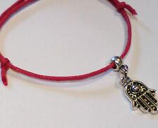 Kabbalah Red cord Lucky Hamsa Bracelet Protection Evil Eye, Success Adjustable
