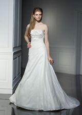A-line Sleeveless 100% Silk Wedding Dresses