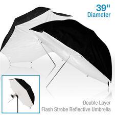 "2 x Umbrella Softbox Soft Brolly Box Reflector Studio 40"" Flash Light Reflective"