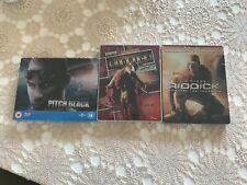 Riddick Blu-Ray Steelbook Set (All Three Riddick Movies)