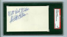 Althea Gibson d'2003 Autographed 3x5 Index Card Tennis Hall of Fame Sgc Encased