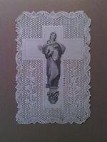 Image pieuse ancienne,canivet,Vierge Marie, 19ème