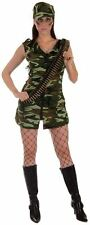 Womans Uniformed Sexy Army Girl GI Jane Fancy Dress
