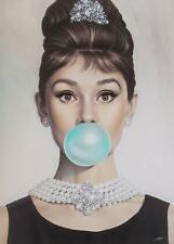 Audrey Hepburn Breakfast at Tiffany's,High quality Canvas print Unframed A4