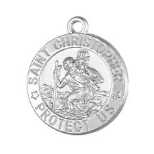 10Pcs St Saint Christopher Protect Us Medal Religious Charms Free Shipping