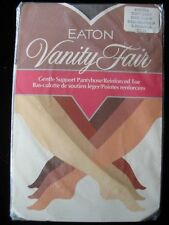 Vtg EATON VANITY FAIR Gentle Support Pantyhose, R Toe, SOFT GREY, Size B -15%OFF