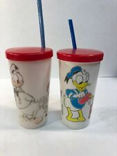 Vintage Walt Disney Donald Duck Huey Dewey Louie Plastic Drinking Cups Eagle