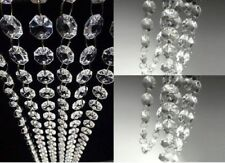 20FT Ceiling Light Acrylic Crystal Hanging Chandeliers Lamp Shade Drops Droplets