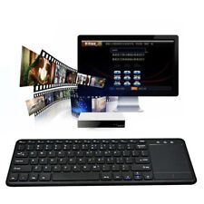 Ultra-thin Wireless Mini Keyboard with Touchpad + USB Receiver for PC Smart TV