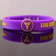 Los Angeles Lakers Souvenir Wristband KOBE BRYANT Bracelet Adjustable strap Ring