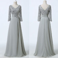 Size 2-16 Fashion Chiffon Mother of the Bride Groom Formal Long  Prom Ball Dress