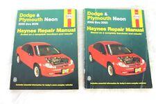 Dodge & Plymouth Neon 2000 thru 2005 Haynes Repair Manual Set of 2 Books 30036