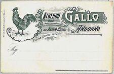 CARTOLINA d'Epoca BIELLA - Andorno Micca : PUBBLICITARIA : ALBERGO GALLO