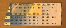 1983 Utopia Atlantic City Boardwalk New Jersey Concert Ticket Stub Todd Rundgren