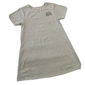 O'Neill Gray Green Pink Yellow Short T-Shirt Sundress Women's Large PreOwned EUC