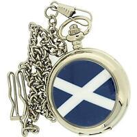 Boxx Gents Analogue Scotland Scottish Pocket Watch on a 12 Inch Chain Boxx238