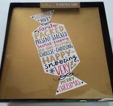 Navideños Hallmark Cracker lista de deseos Signature Edition Caja de tarjeta 18 Tarjeta 11430575