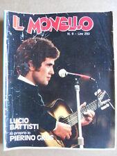 IL MONELLO 6 1975 Speciale Lucio Battisti - Cristall Inserto Pierino GROS [G392]