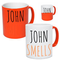 Personalised Funny Heat Changing Mug With Name Tea & Coffee For Him Her