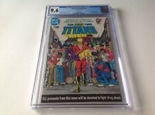 NEW TEEN TITANS NN CGC 9.6 WHITE PKEEBLER NANCY REAGAN DRUG ISSUE DC COMICS 1983