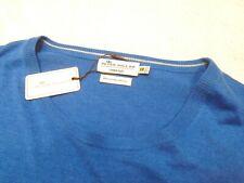 Peter Millar Crown Soft Cotton Silk Crewneck Sweater NWT XXL $135 Boardwalk Blue