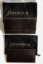 New DONNA KARAN COLLECTION Brown Lizard Wallet & Checkbook Cover Italy